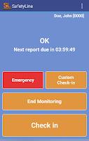 Screenshot of SafetyLine