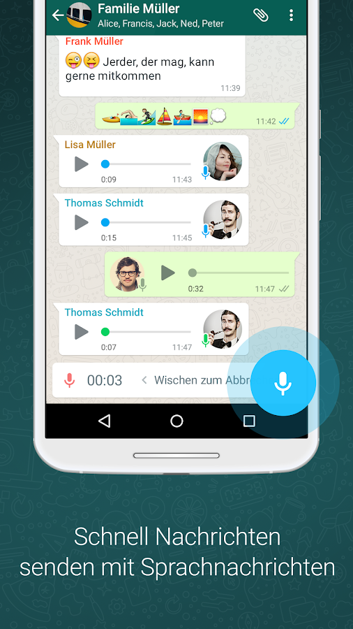 WhatsApp Messenger – Screenshot