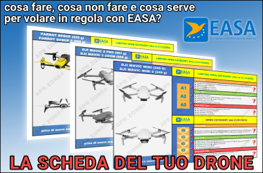 la scheda del tuo drone