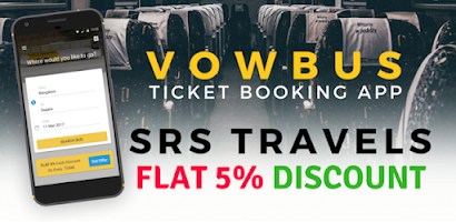 SRS Travels Bus Ticket Booking By VOWBUS - Free Android app
