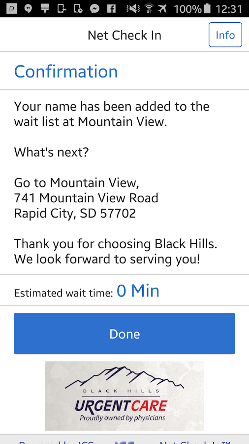Black Hills Urgent Care- screenshot