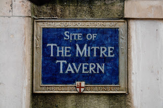 "Photo: Sign of the old Mitre Tavern, City of London. Note, that ""City of  London"" means ""The Corporation of the City of London"" which is the central area in downtown London, marked by red white bollards. One of its well kept legacy over the centuries at least since 700 years, and most likely even longer since the Roman period, is its elected local government, independent from monarchies and the church."