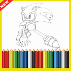 Coloring  Sonic Game icon