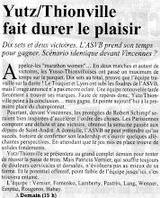 Photo: 12-10-96 N2F Après sa victoire 2-3 face à Lyon l'ASVB attend Vincennes