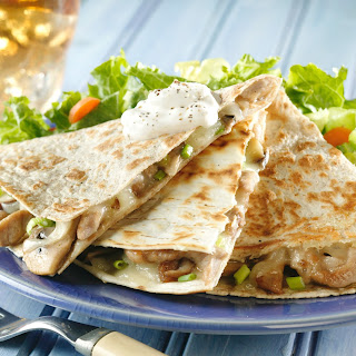 Pork and Mushroom Quesadillas Recipe