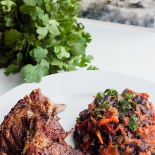 Pork Ribs Stew with Beans in Tomato Sauce