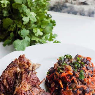 Pork Ribs Stew with Beans in Tomato Sauce.