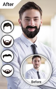 Man Hair Mustache Style Photo Editor- screenshot thumbnail