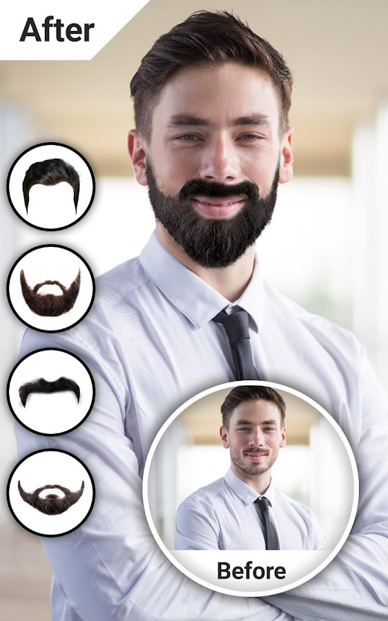 Man Hair Mustache Style Photo Editor- screenshot