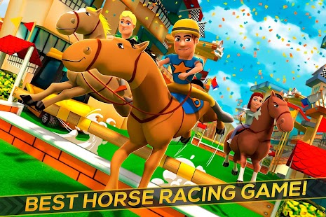 Cartoon Horse Riding - Derby Racing Game for Kids- screenshot thumbnail