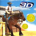 Cowboy Horse Run Simulator 3D icon