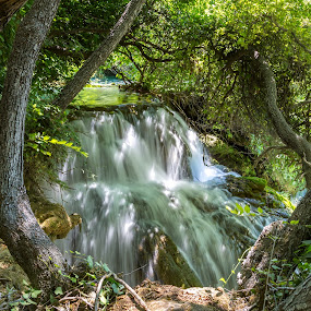 Waterfall by Ivica Bajčić - Landscapes Waterscapes ( water, national park, waterfall, croatia, visitcroatia )