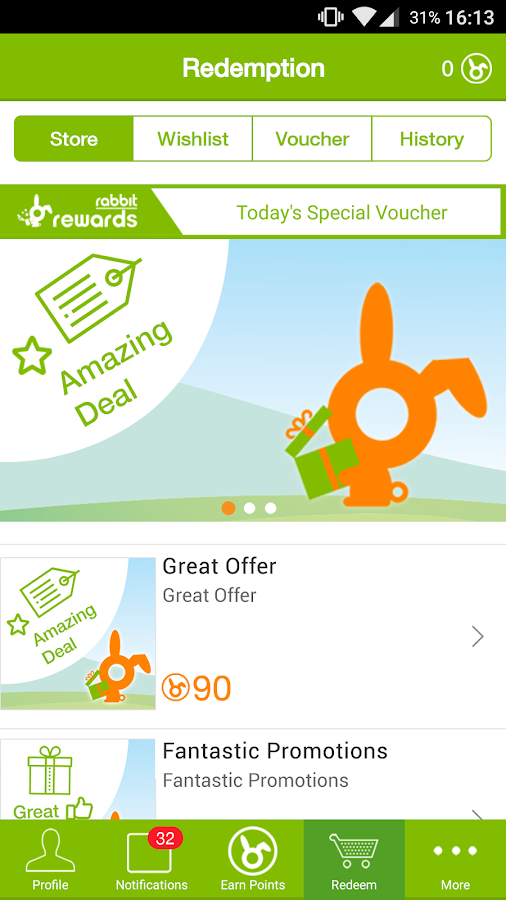 Rabbit Rewards- screenshot