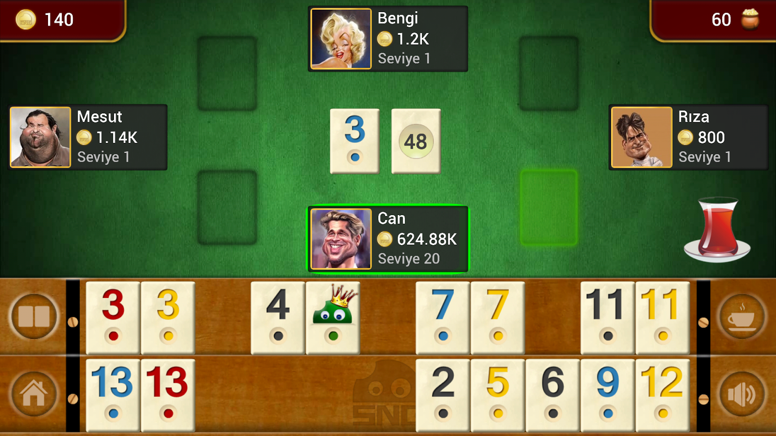 Gin Rummy Board Game - OKEY- screenshot