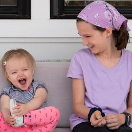 Family cousins by Jack Nevitt - Babies & Children Children Candids ( feet, children, porch, playing, fun, laughing )
