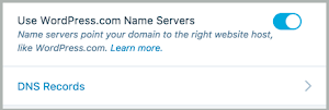 DNS Records is an option under Use WordPress.com Name Servers.