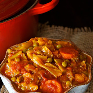 Vegan Tomato-Turmeric Cabbage Stew.