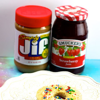 Peanut Butter and Jelly Donut Sandwiches.