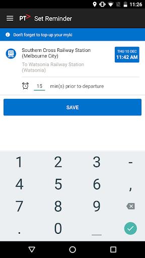 Public Transport Victoria app  screenshots 3