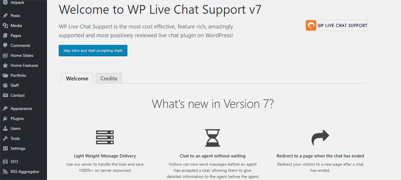 wp-live-chat-support-welcome-screen