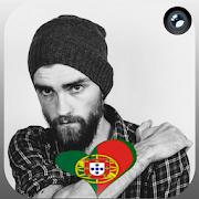 Portugal Flag Heart Effect : Photo Editor APK