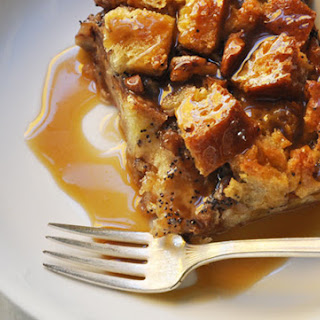 GINGERBREAD SPICED BREAD PUDDING with BOURBON SAUCE Recipe
