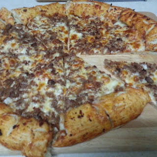 Bacon and Cheese Stuffed Crust Italian Sausage Pizza new