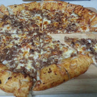 Bacon and Cheese Stuffed Crust Italian Sausage Pizza new.