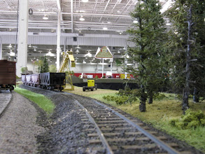 Photo: Long shot to the hoppers at Marshall's Siding. Someone has left a boxcar on the main...