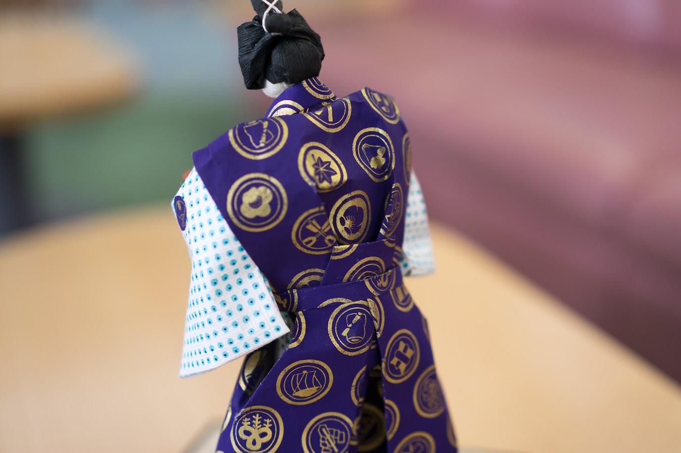 素晴らしい見事な和紙人形