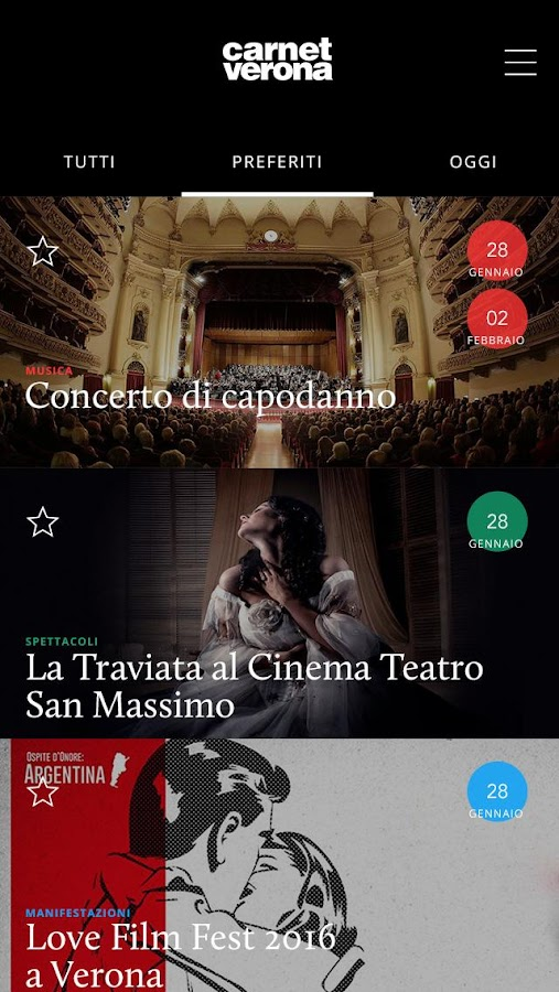 Carnet Verona- screenshot