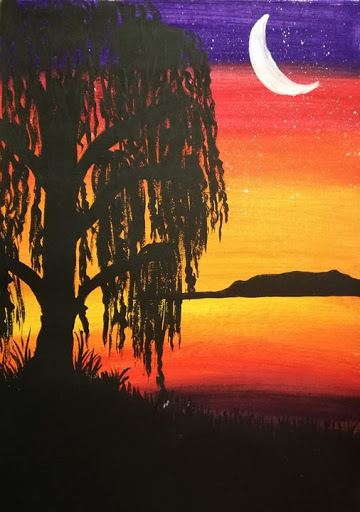 The White Canvas Paint Night - Weeping Willow : Pop-up Society