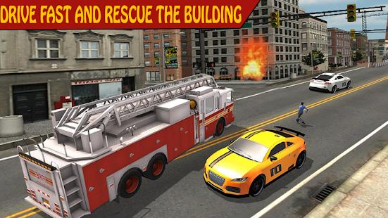 Emergency FireFighter Truck - náhled