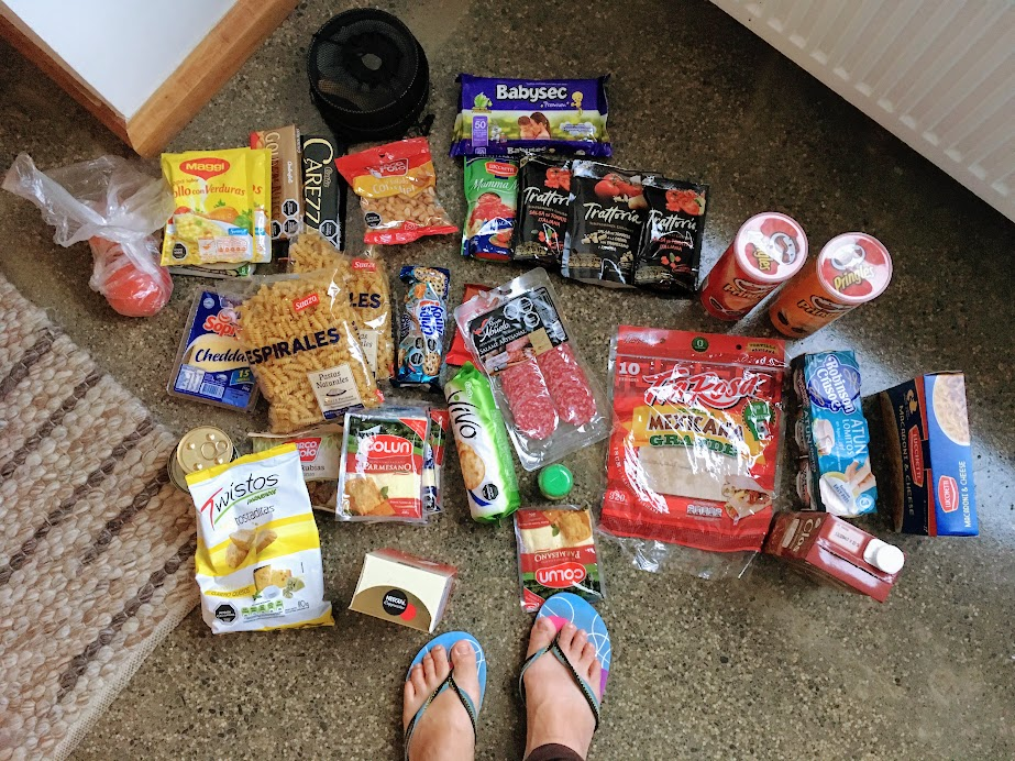 Food to pack for our W-Trek.