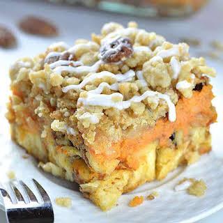 Pumpkin Pie Cinnamon Roll Casserole.