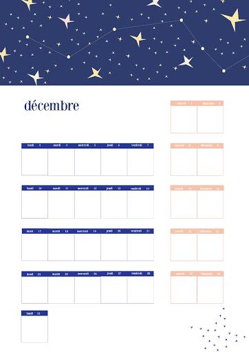 Calendrier 2018 - décembre