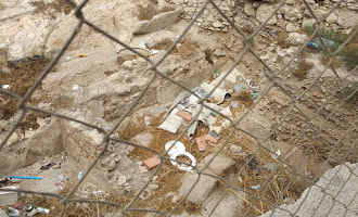 Basura en los restos arqueológicos de Almanzor