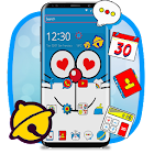 Tema Blue Doremeow Cat icon