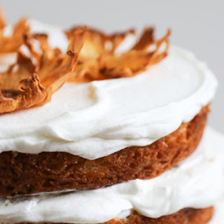 Pineapple Cake with Pineapple Jam and Whipped Cream.