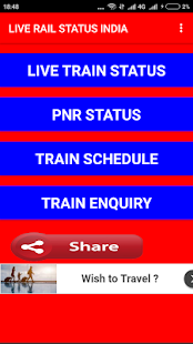 LIVE TRAIN STATUS INDIA - náhled