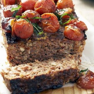 Mixed Meat Loaf with Tomato Topping.