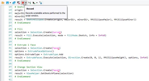 ANSYS При записи действий, произведенных при моделировании, создаются все необходимые для редактирования или воспроизведения скрипта строки кода
