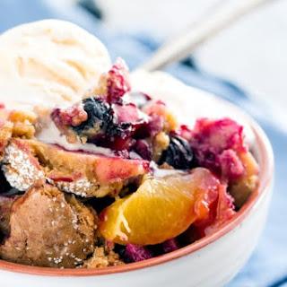 Oatmeal Cookie Blueberry Peach Cobbler.