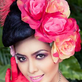 Flora Wedding by Norman Fotograf - Wedding Bride ( red, beauty, bride, flowers, women )