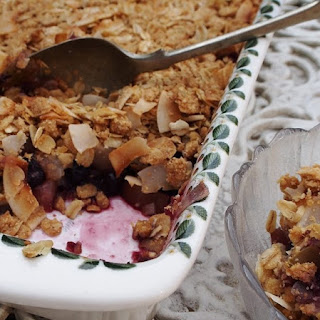 Apple, Pear And Raspberry Crumble