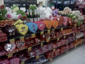Photo: Here is the other side of the Valentines display, now that's a lot of candy!!