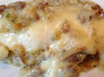 Swiss Baked Chicken with Wine