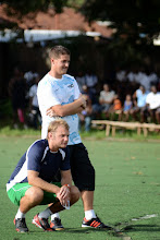 Photo: Head Coach Johnny McKinstry and Assistant Coach Tom Harris [Leone Stars Training Camp in advance of Tunisia Game, June 2013 (Pic: Darren McKinstry)]