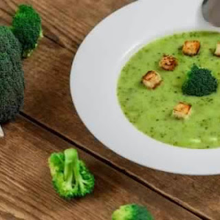 Cream Of Broccoli With Croutons