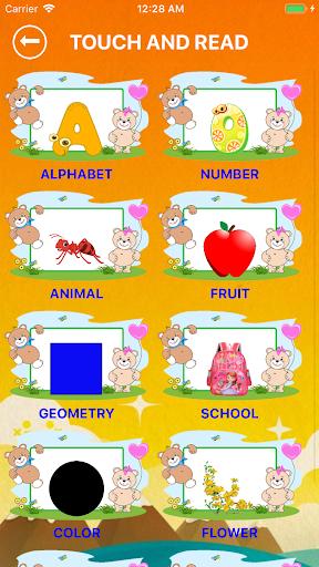 English Alphabet, Numbers, Fruits for kids 1.3 screenshots 2